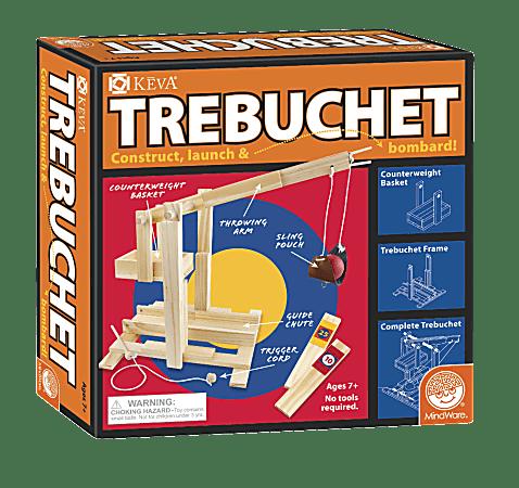 KEVA 86-Piece Trebuchet Set, Natural Pine