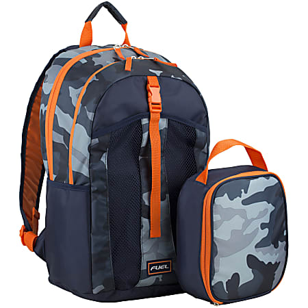 Fuel Deluxe Lunch Bag And Backpack Set, Midnight Camo