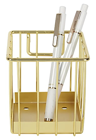 Realspace® Gold Wire Hanging Organizer System, Pencil Cup Attachment