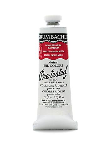 Grumbacher P029 Pre-Tested Artists' Oil Colors, 1.25 Oz, Cadmium Barium Red Medium