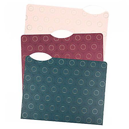 "U Brands Fashion File Folders, Letter Size, 8-1/2"" x 11"", Fleuri Jewel Tones, Pack Of 24 Folders"