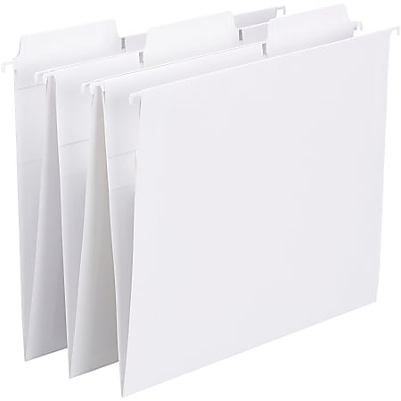 Smead® FasTab Hanging File Folders, Letter Size, White, Box Of 20 Folders