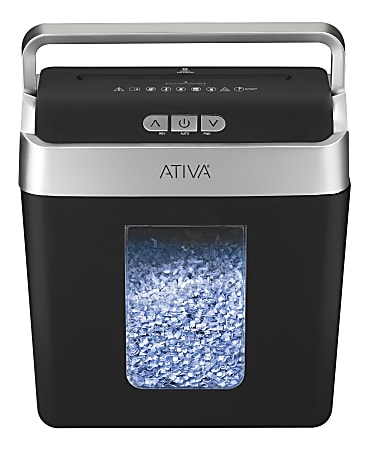 Ativa® 8-Sheet Micro-Cut Lift-Off Shredder With Handle, OMM83B