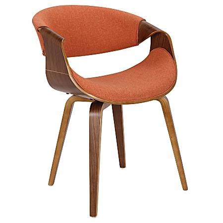 LumiSource Curvo Chair, Walnut/Orange