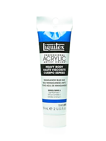 Liquitex Heavy Body Professional Artist Acrylic Colors, 2 Oz, Manganese Blue Hue, Pack Of 2