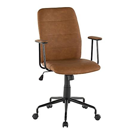 LumiSource Fredrick Office Chair, Black/Brown