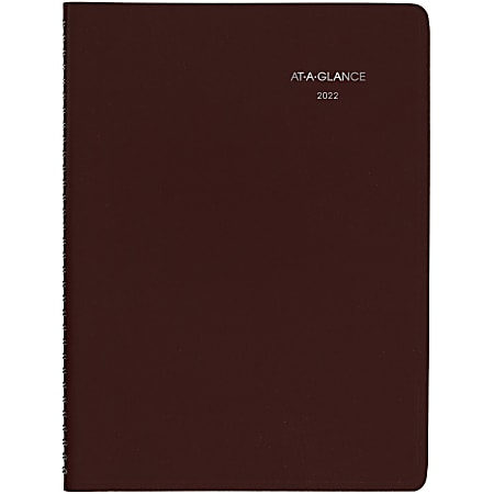 """AT-A-GLANCE® DayMinder Weekly Planner, 8"""" x 11"""", Burgundy, January To December 2022, G52014"""