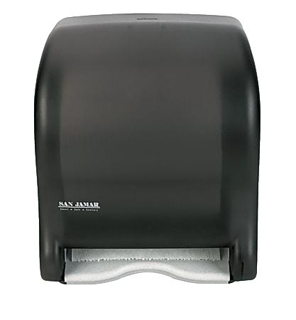 """San Jamar Tear-N-Dry Eco Roll Paper Towel Dispenser, 14 7/16"""" x 11 3/4"""" x 9 1/8"""", Black"""