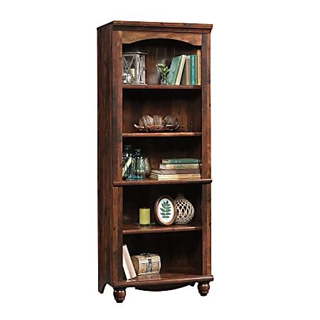 "Sauder® Harbor View 72 1/4"" 5 Shelf Contemporary Library, Cherry/Medium Finish, Standard Delivery"