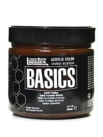 Liquitex Basics Acrylic Paint, 32 Oz Jar, Burnt Umber