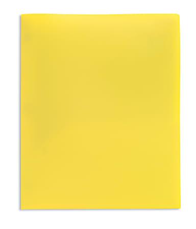 Office Depot® Brand School-Grade 2-Pocket Poly Folder, Letter Size, Yellow
