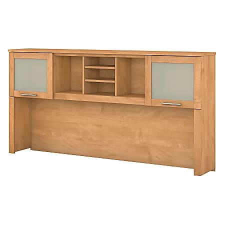 "Bush Furniture Somerset Hutch for L Shaped Desk, 72""W, Maple Cross, Standard Delivery"