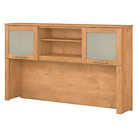 "Bush Furniture Somerset Hutch for L Shaped Desk, 60""W, Maple Cross, Standard Delivery"