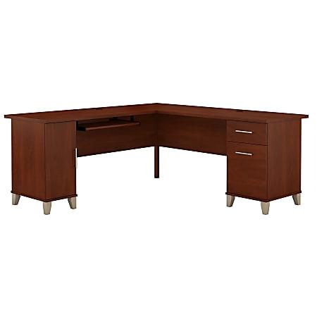 "Bush Furniture Somerset L Shaped Desk, 72""W, Hansen Cherry, Standard Delivery"