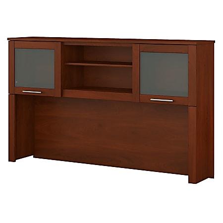 "Bush Furniture Somerset Hutch for L Shaped Desk, 60""W, Hansen Cherry, Standard Delivery"