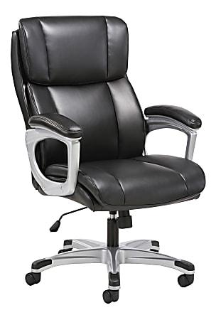 HON® Sadie 3-Fifteen Executive Ergonomic Bonded Leather Chair, Black