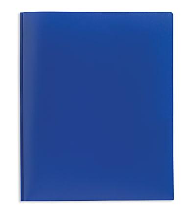 Office Depot® Brand 2-Pocket Poly Folder with Prongs, Letter Size, Blue