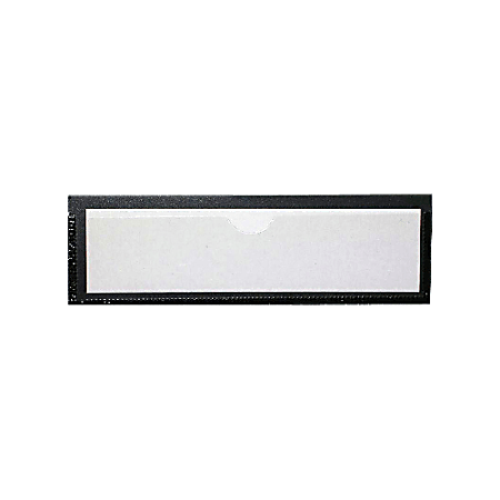 """Tatco Magnetic Label Holders, 1 3/8"""" x 4 3/8"""", Black/White, Pack Of 10"""
