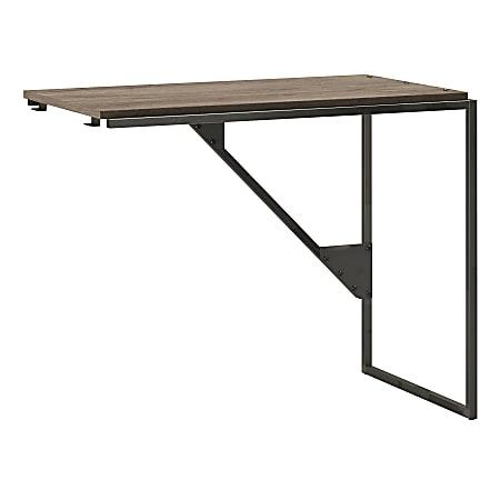 "Bush Furniture Refinery Industrial Desk Return, 37""W, Rustic Gray, Standard Delivery"