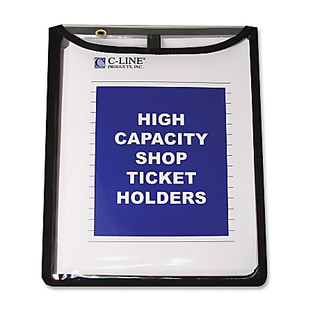 "C-Line® Heavyweight Vinyl Shop Ticket Holders, 9"" x 12"", Pack Of 15"