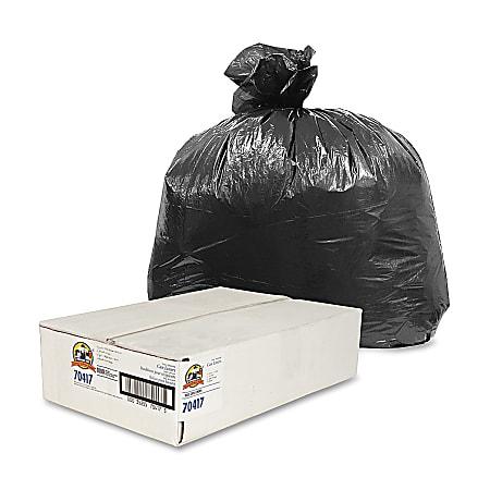 "Genuine Joe® 0.35-mil Linear Low-Density Trash Liners, 10 Gallons, 24"" x 23"", Black, Carton Of 1000"