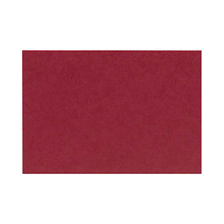 """LUX Flat Cards, A2, 4 1/4"""" x 5 1/2"""", Garnet Red, Pack Of 500"""
