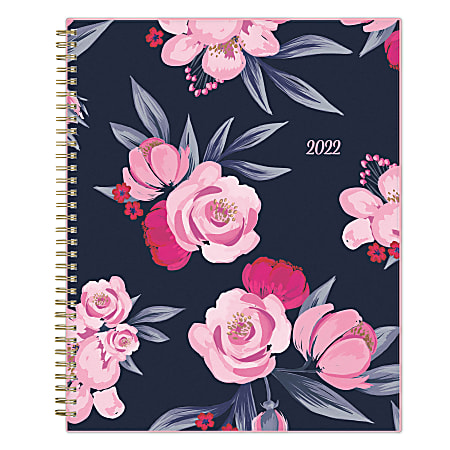 """Blue Sky™ Frosted Weekly/Monthly Safety Wirebound Planner, 8-1/2"""" x 11"""", Mimi Pink, January To December 2022, 137264"""
