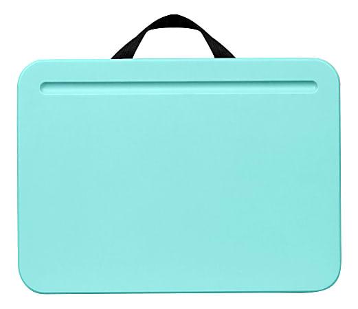 """LapGear Compact Lap Desks, 2"""" x 13-3/4"""" x 10"""", Aqua Sky, Pack Of 12 Desks"""