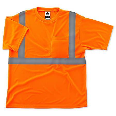 Ergodyne GloWear 8289 Type R Class 2 T-Shirt, 4X, Orange