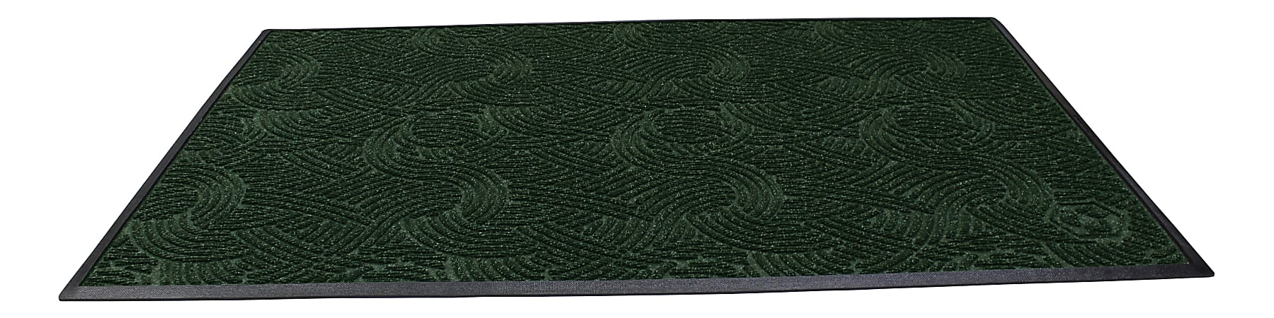 "Waterhog Plus Swirl Floor Mat, 48"" x 96"", 100% Recycled, Southern Pine"