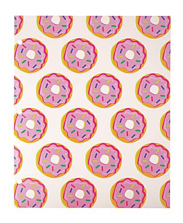 Divoga® 2-Pocket Paper Folder, Sweet Smarts Collection, Letter Size, Donuts
