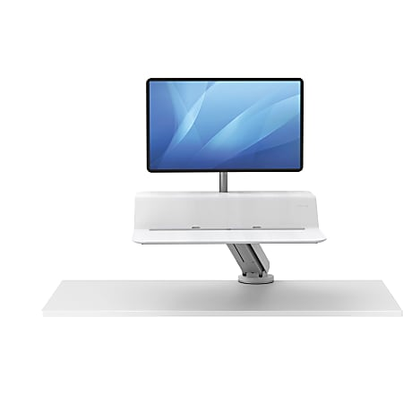 Fellowes® Lotus™ RT Sit-Stand Workstation, Single Monitor, White