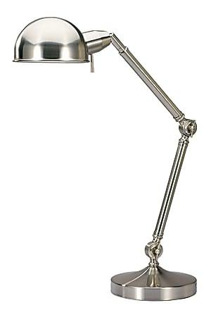 """V-Light Pharmacy Lamp, 25 1/2""""H, Brushed Nickel"""