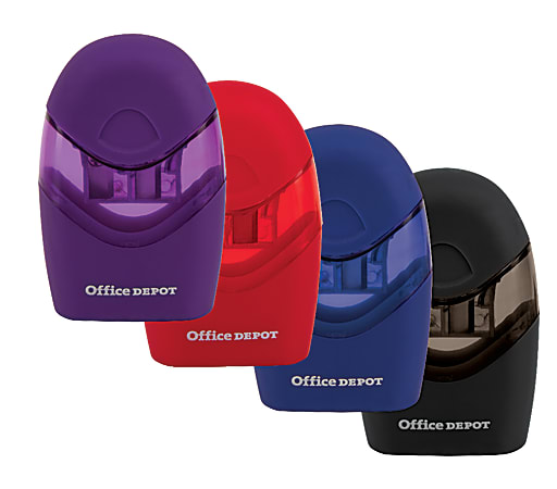 Office Depot® Brand Double-Hole Manual Pencil Sharpener, Assorted Colors