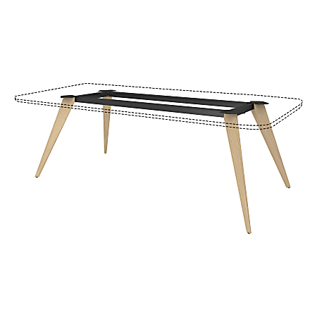 """Lorell® 72""""W Rectangular Conference Table Wood Base, Natural/Black"""