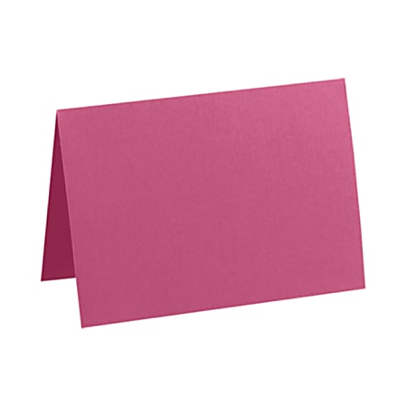"""LUX Folded Cards, A1, 3 1/2"""" x 4 7/8"""", Magenta, Pack Of 500"""