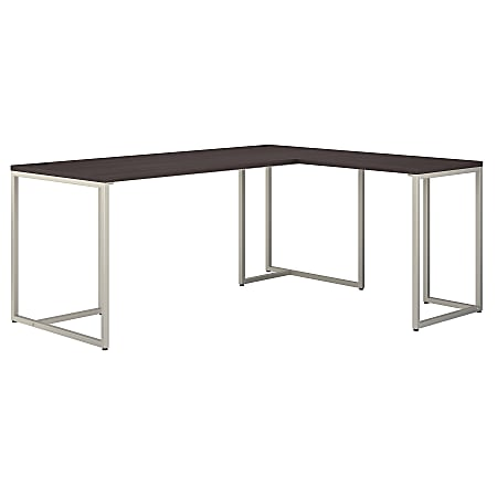 """kathy ireland® Office by Bush Business Furniture Method 72""""W L-Shaped Desk With 30""""W Return, Storm Gray, Standard Delivery"""