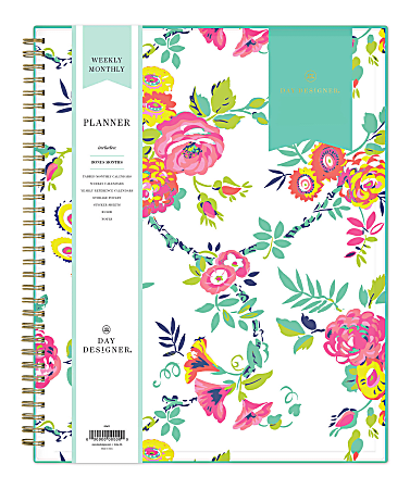 "Blue Sky™ Day Designer Weekly/Monthly Planner, 8-1/2"" x 11"", Peyton White, January To December 2021, 103618"