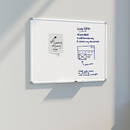 """U Brands Magnetic Dry Erase Porcelain Steel Board, 96"""" X 48"""", White Aluminum Frame"""