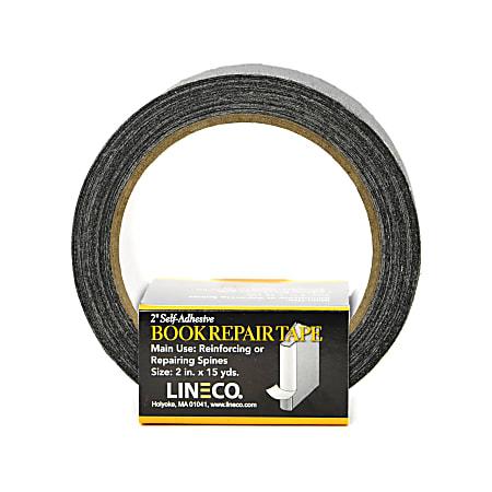 "Lineco Spine Repair Tape, 2"" x 540, Black"