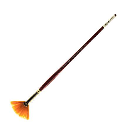 Grumbacher Goldenedge Oil and Acrylic Brush, Size 6, Fan Bristle, Synthetic
