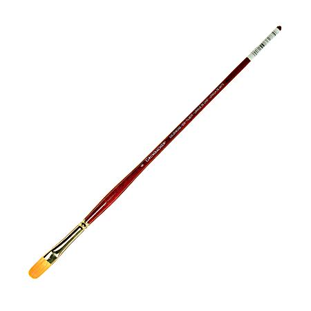 Grumbacher Goldenedge Oil and Acrylic Brush, Size 6, Filbert Bristle, Synthetic