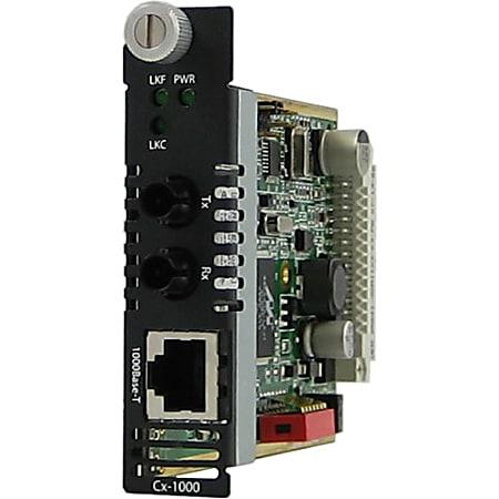Perle C-1000-S2ST120 Gigabit Ethernet Media Converter - 1 x Network (RJ-45) - 1 x ST Ports - 1000Base-T, 1000Base-ZX - Internal