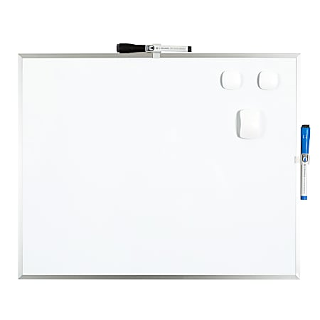 """U Brands Magnetic Dry-Erase Whiteboard, 16"""" x 20"""", Aluminum Frame With Silver Finish"""