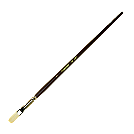 Silver Brush Silverstone Series Paint Brush 1101, Size 6, Flat Bristle, Hog Hair, Maroon