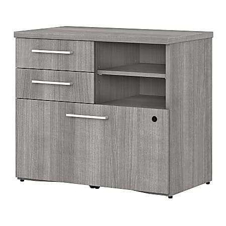 """Bush Business Furniture 400 Series 30""""W Lateral 3-Drawer File Cabinet, Platinum Gray, Standard Delivery"""