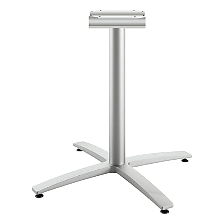 """HON Between X-Base, Seated Height - Silver X-shaped Base - 29.50"""" Height"""