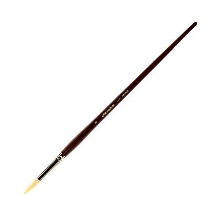 Silver Brush Silverstone Series Paint Brush 1100, Size 6, Round Bristle, Hog Bristle, Maroon