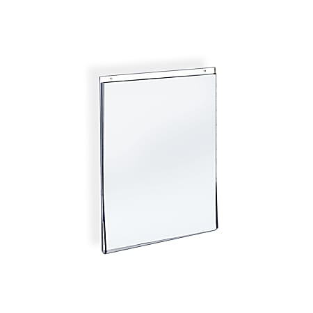 """Azar Displays Wall-Mount U-Frame Acrylic Sign Holders, 11"""" x 8 1/2"""", Clear, Pack Of 10"""