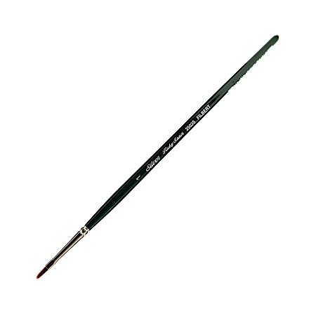 Silver Brush Ruby Satin Series Short-Handle Paint Brush 2503S, Size 1, Filbert Bristle, Synthetic, Multicolor